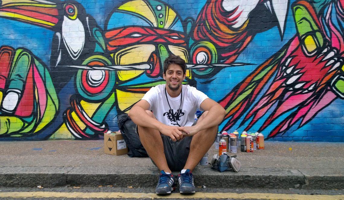Fabio Lopes relaxes on Braithwaite Street