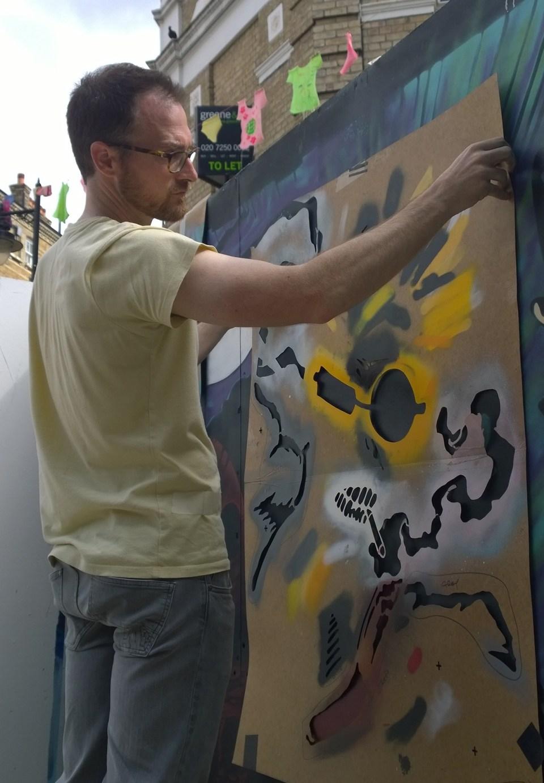 Leeks painting on Whitecross Street