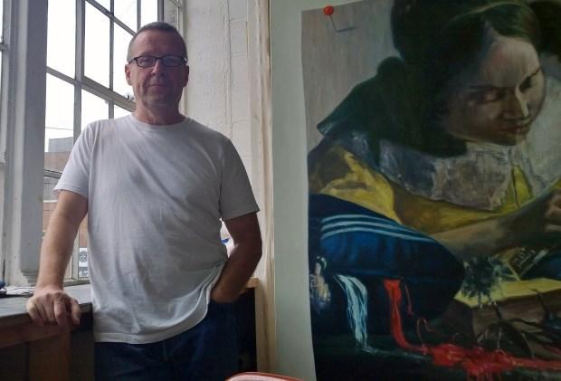 Martin McGinn in his studio