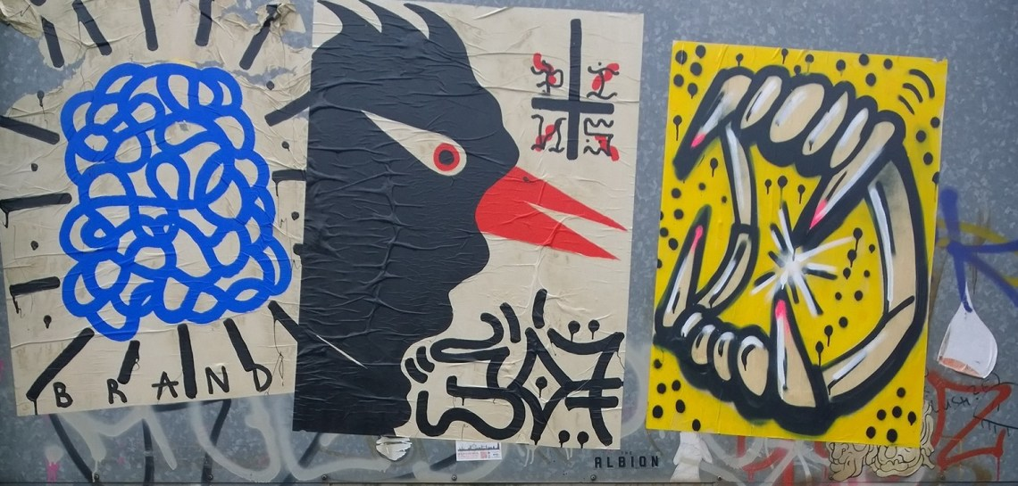 Original paste ups from Sweet Toof and Paul Insect could be found all over the Wick