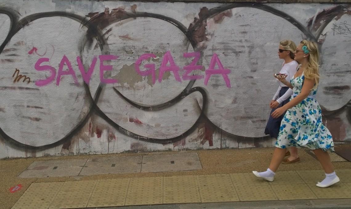 Save Gaza Tag Hackney wick