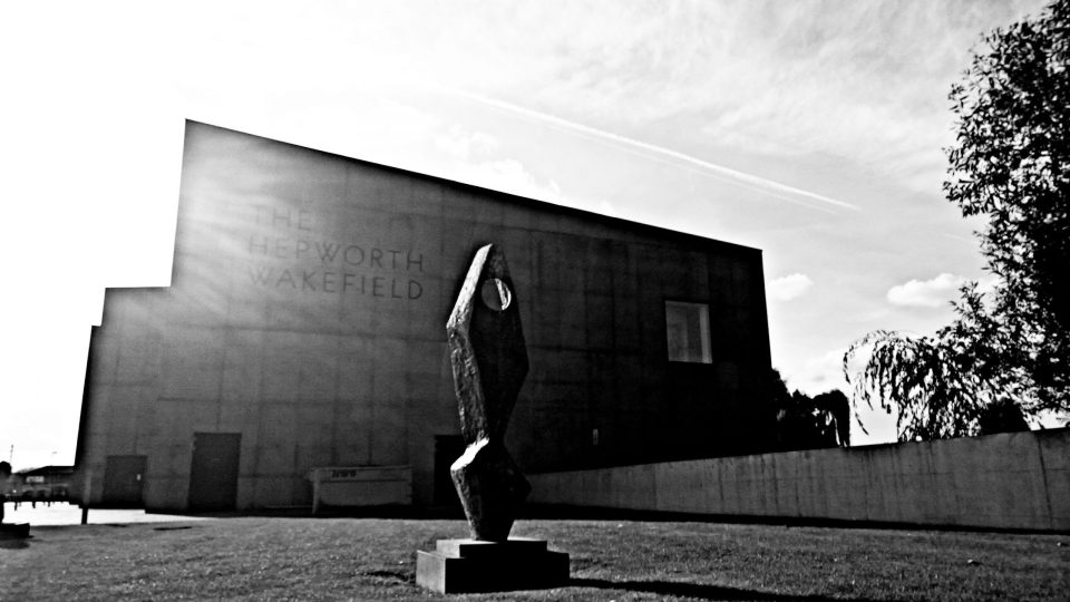 The Hepworth Gallery in black and white