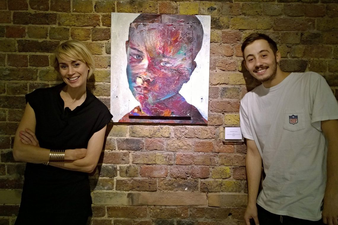 Clare Turner and Ryan Holmes from the Lollipop Gallery