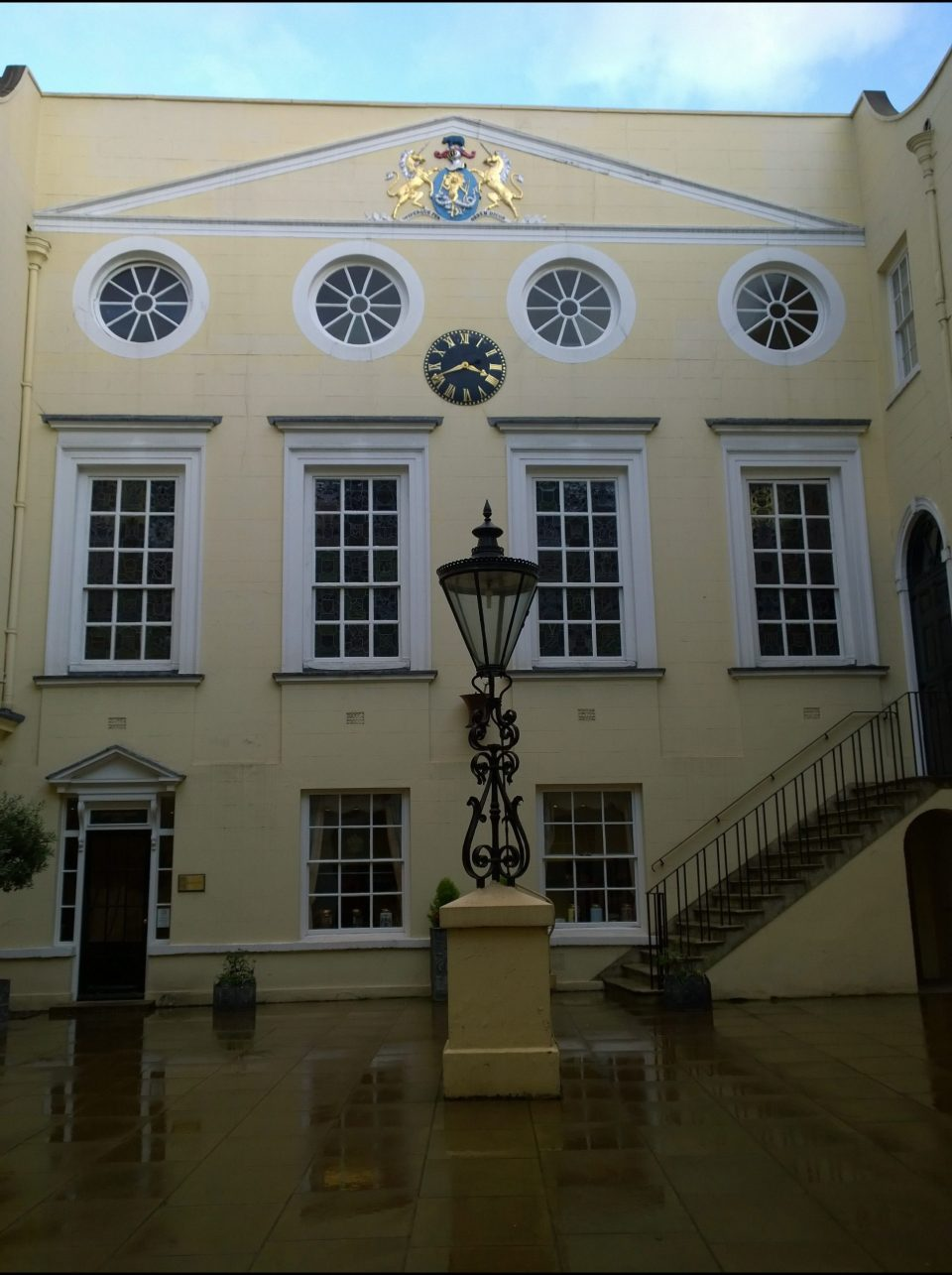 The Apothecaries Hall on the site of the former monastery