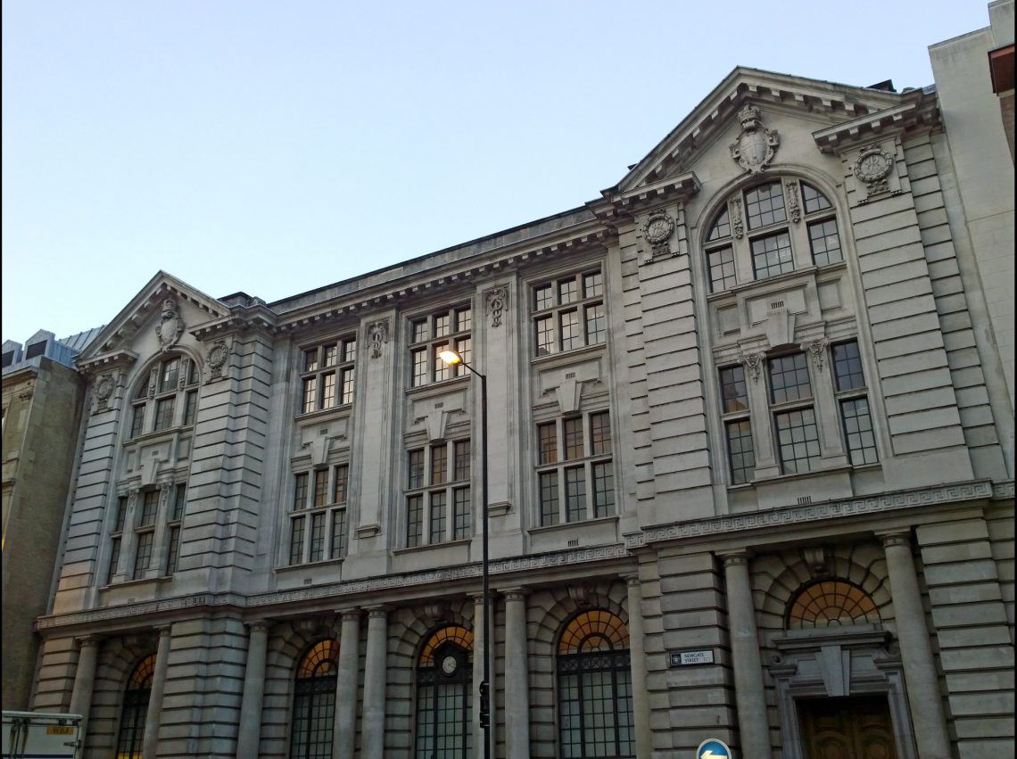 On the location of the monastery itself on newgate is this building