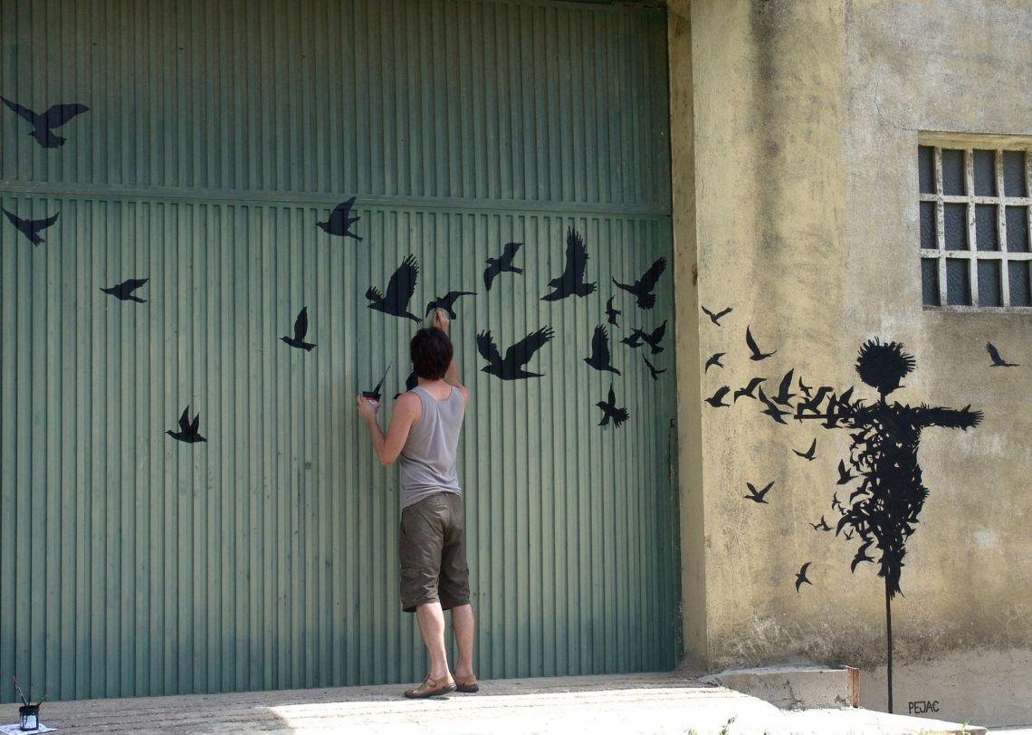 Street Art by Pejac in Salamanca, Spain taken from Street Art Utopia