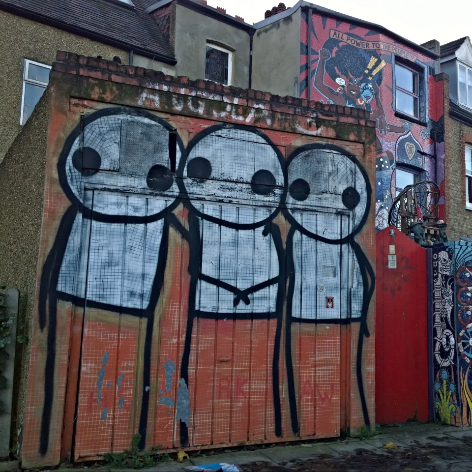 An older Stik is nearby, this piece is in memory of the Angola 3