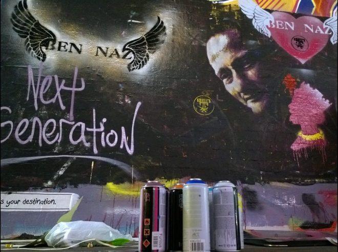 Work from Graffeeney next to Next Generation