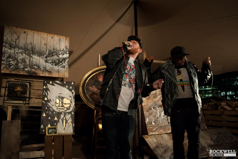 Live painting and live music, a glorious combination
