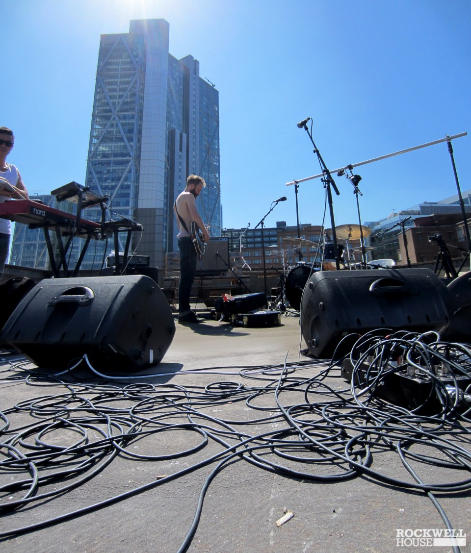 Setting up the stage for another gig