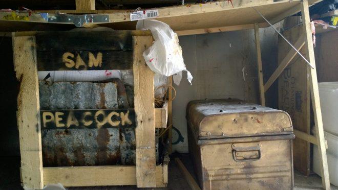 Sam Peacocks studio box of odds and sods