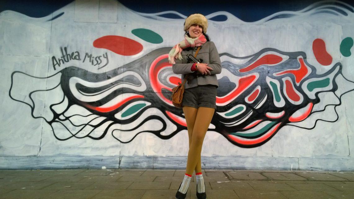 Belgian artist Anthea Missy at the Croydon paint jam