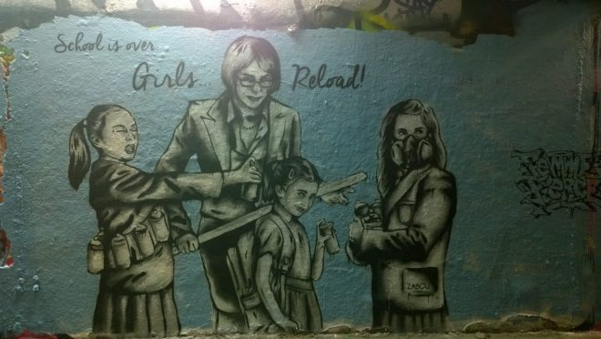 The Finished Zabou piece 'Girls Reload mark 2'