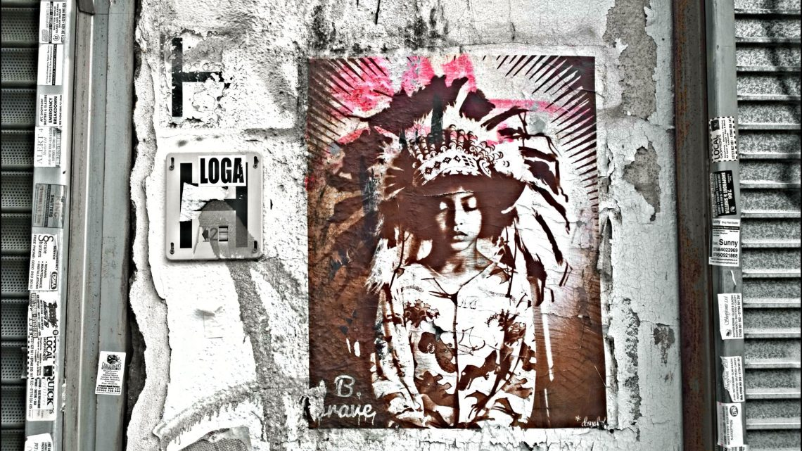 B Brave, an image featuring an image of street artist Donk's son