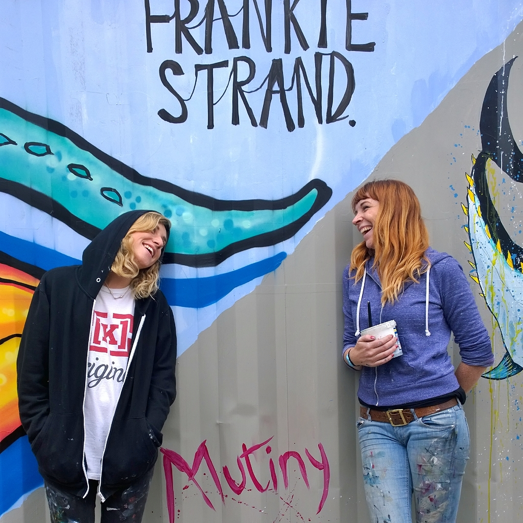 Photograph of Frankie Strand and Jane Mutiny