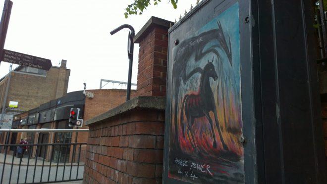 Jonesy art on The Calls in leeds