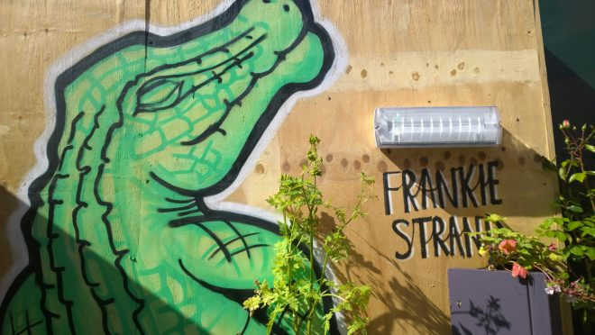 Crocodile by Frankie inside the boxpark