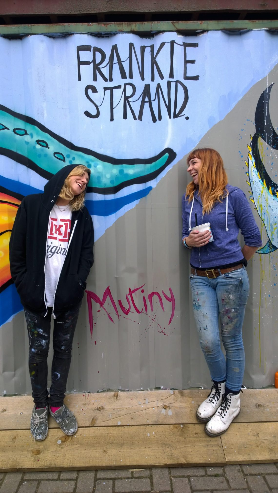 Frankie Strand and Mutiny having finished their piece at Pop Brixton