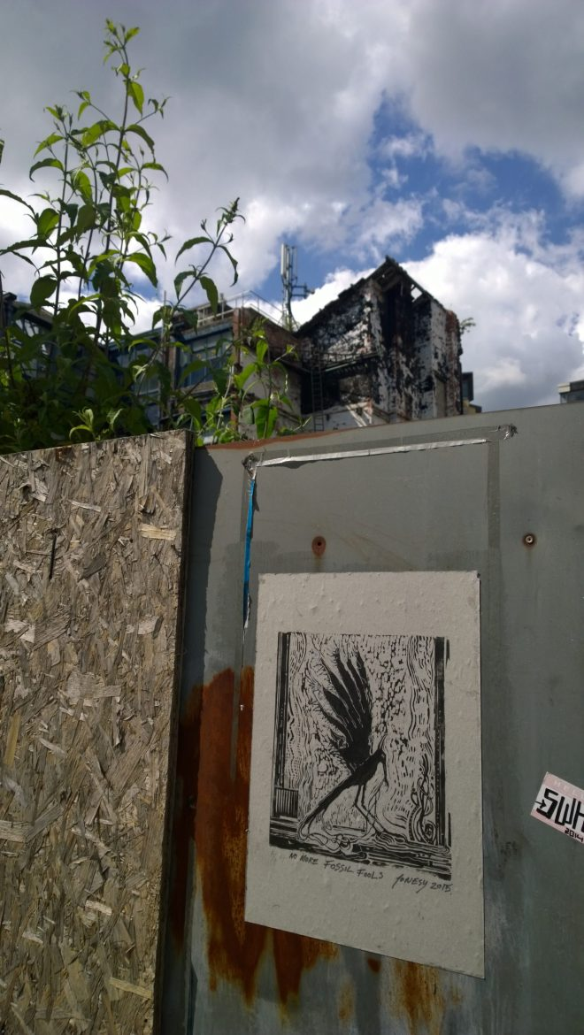 jonesy's work can be seen dotted around the area.  This piece is on Yorks Street