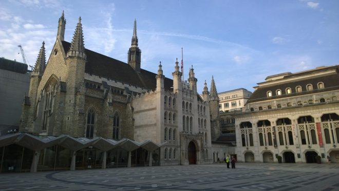 The Guildhall courtyard