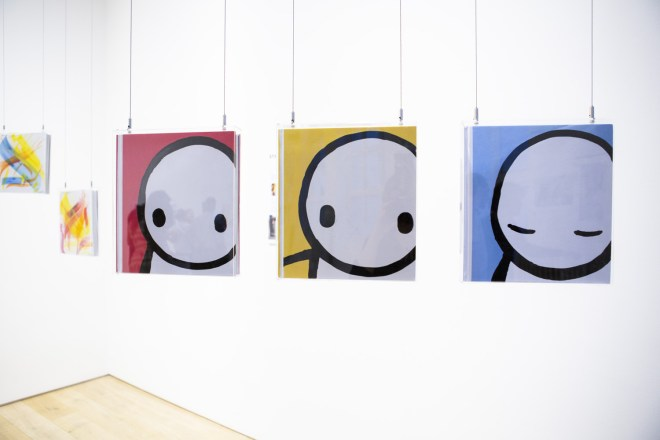 Hand painted book covers from Stik, who in 2012 joined with Ingrid to create a series of works in Dulwich which became the start of the Dulwich Outdoor Gallery