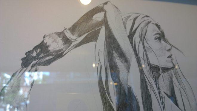 A yoga inspired pencil sketch