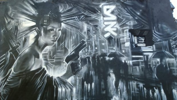 Dan Kitchener giant mural on Pedley Street