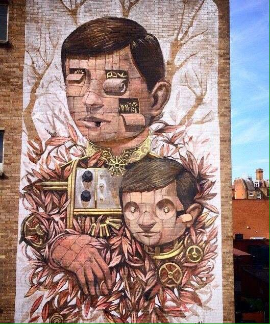 Pixel Pancho mural in Dalston