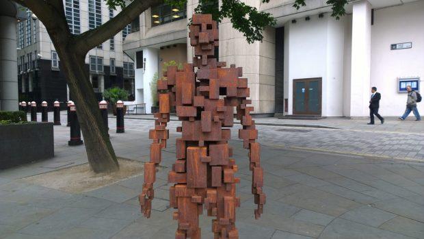 The cast iron man overlooking the Fleet valley