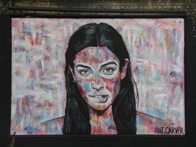 Portrait on the Shoreditch Art Wall