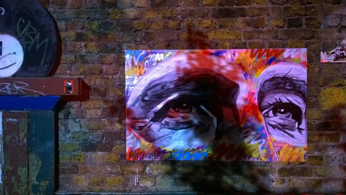 This recent work can be seen on Brick Lane