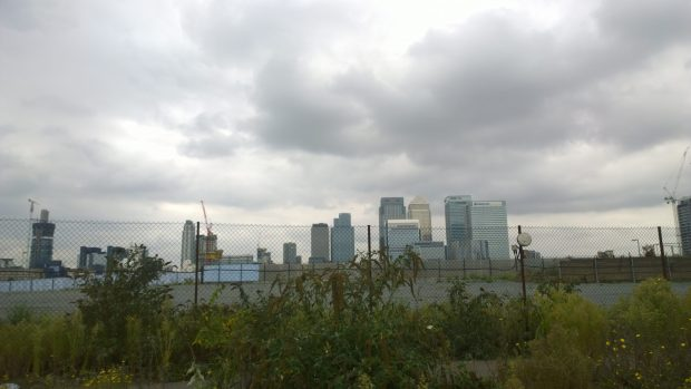 The scrubland on which the sculpture is placed will soon be prime real estate with some of the best views in London