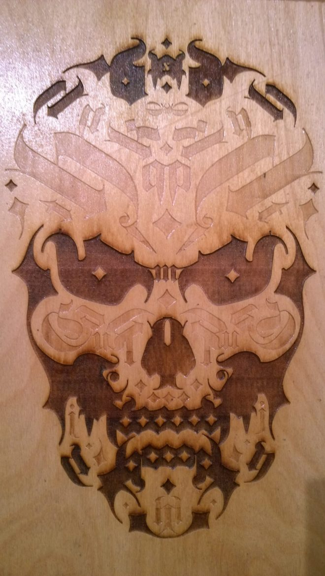 Ross Elliot wooden skull