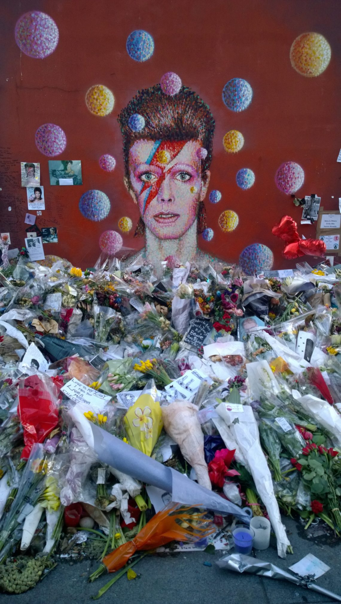 The David Bowie mural which can be found outside Brixton tube station