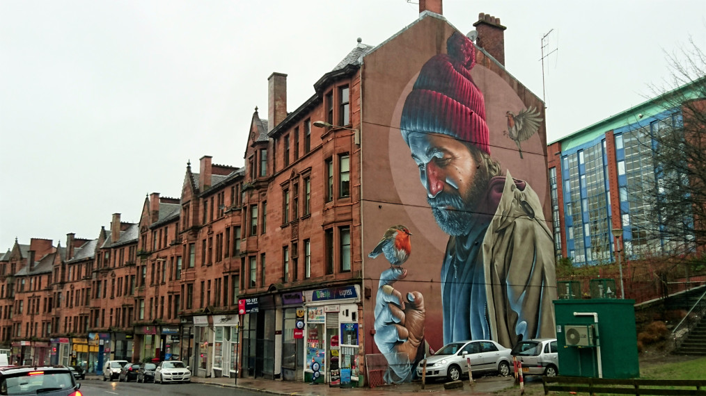 Mural by SMUG in Glasgow