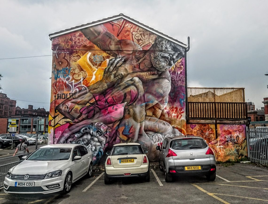 Mural by Pichiavo for the Cities of Hope Festival in Manchester