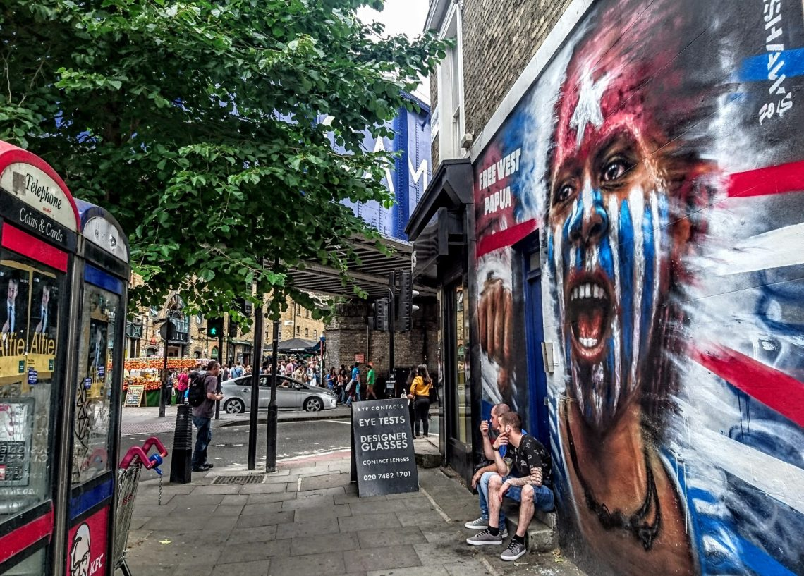 A mural from Dale Grimshaw in Camden in London