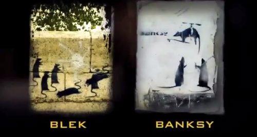 blek vs. banksy