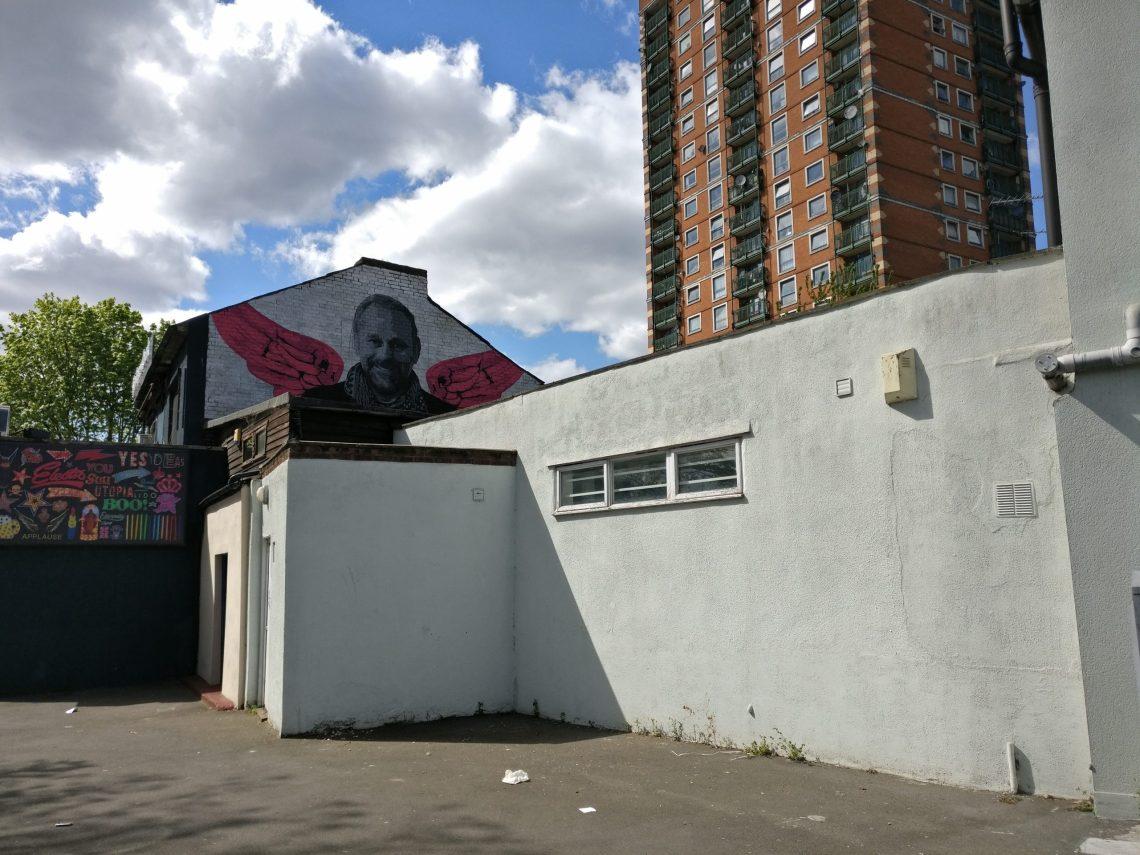 Chris Bracey God's Own Junkyard mural walthamstow