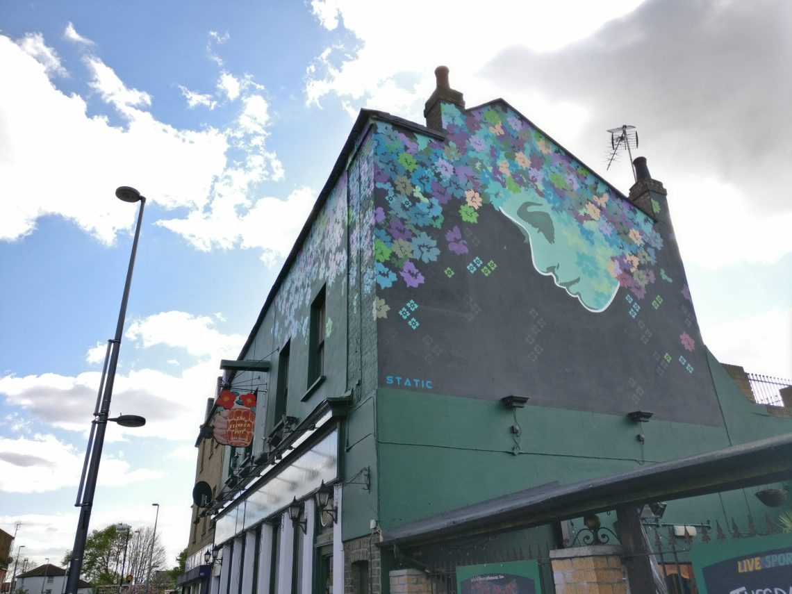 Street art by Static on Wood Street in Walthamstow