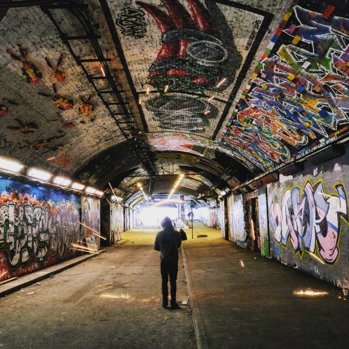 The Leake Street Tunnel in Waterloo is a great place to find graffiti in London