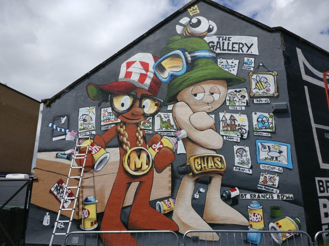 Mural by Cheo as seen during the Upfest street art festival
