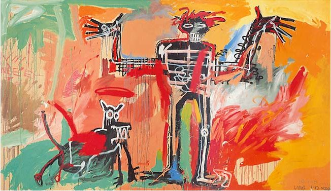 Boy and Dog in a Johnnypump by Jean-Michel Basquiat
