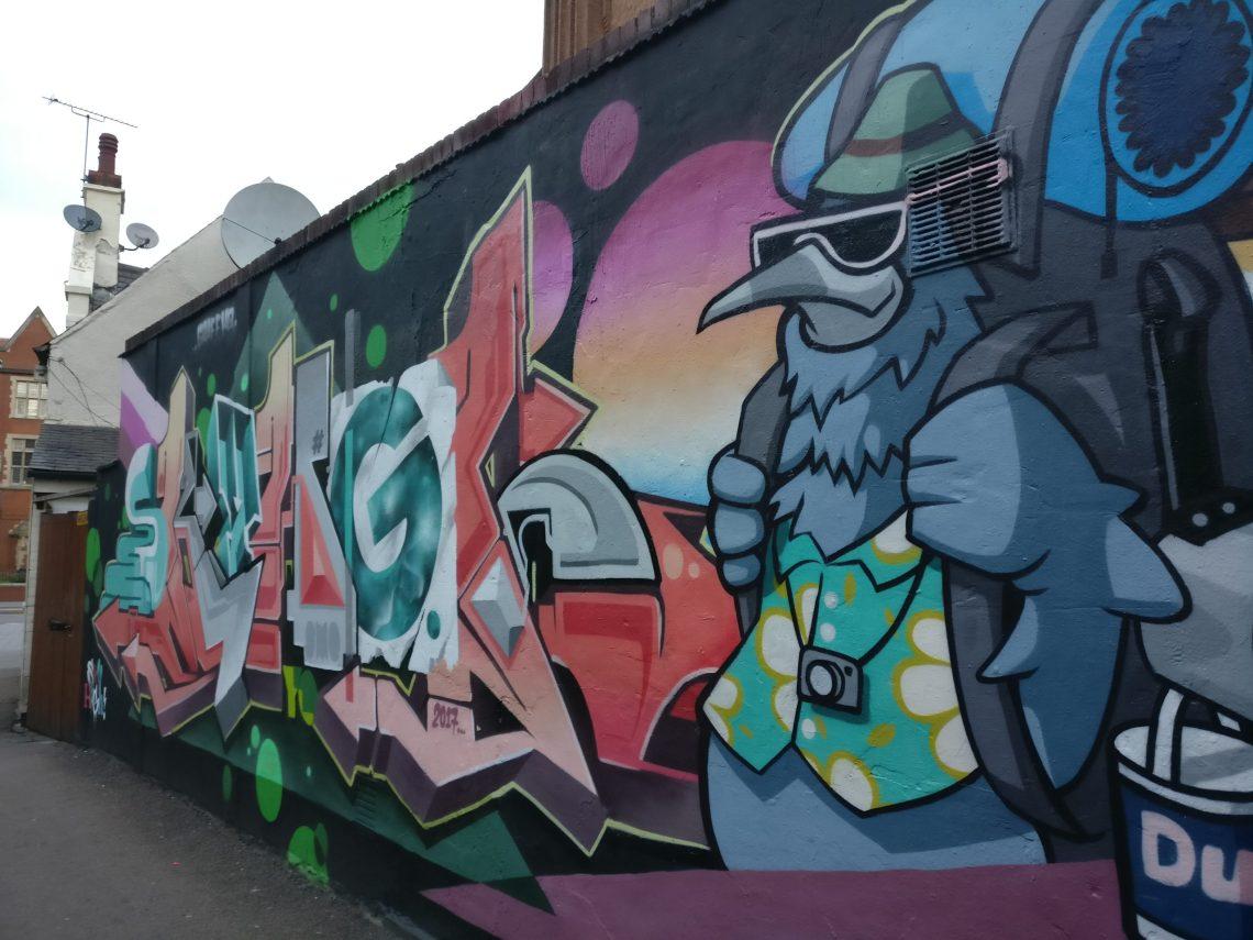 sky high roo graffiti leicester