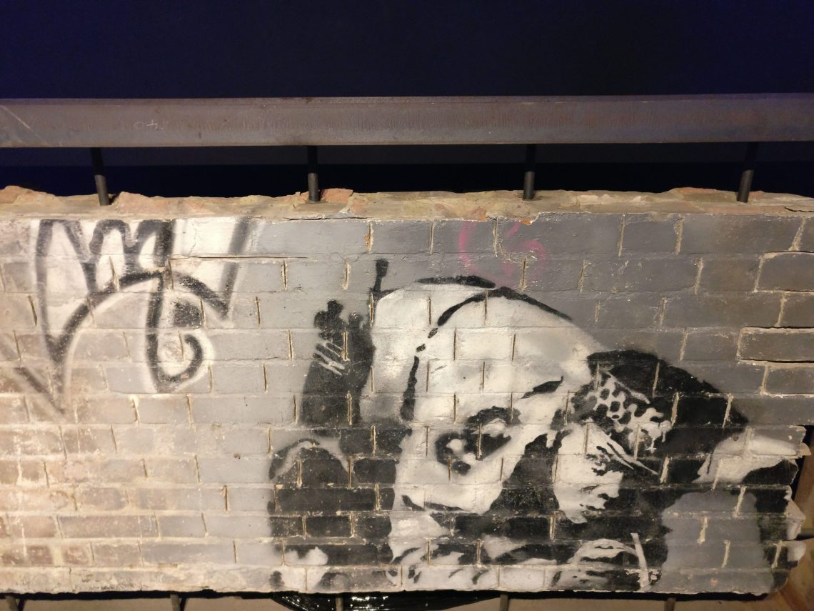 The snorting copper by Banksy revealed