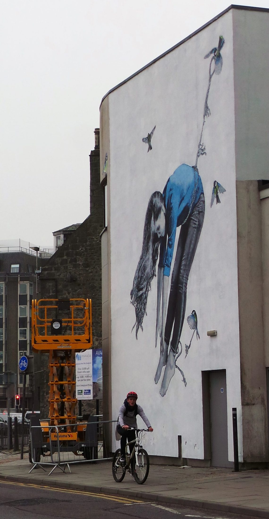 Street art by Snik as part of the Aberdeen Nuart festival.