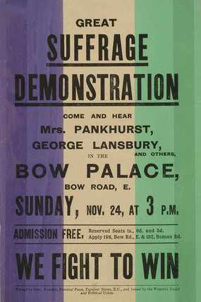 Bow Palace Demonstration Suffragettes 1912