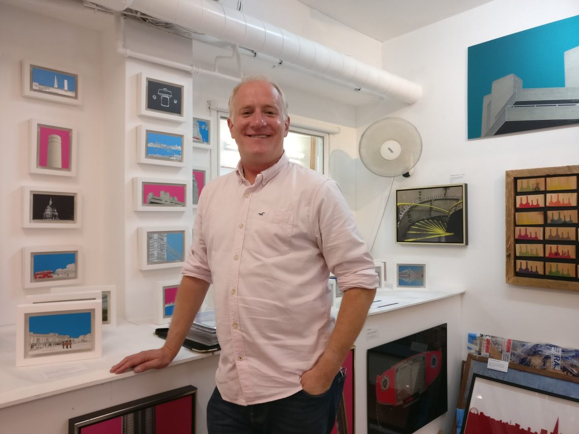 Michael Wallner Artist in the Wimbledon Art Studios
