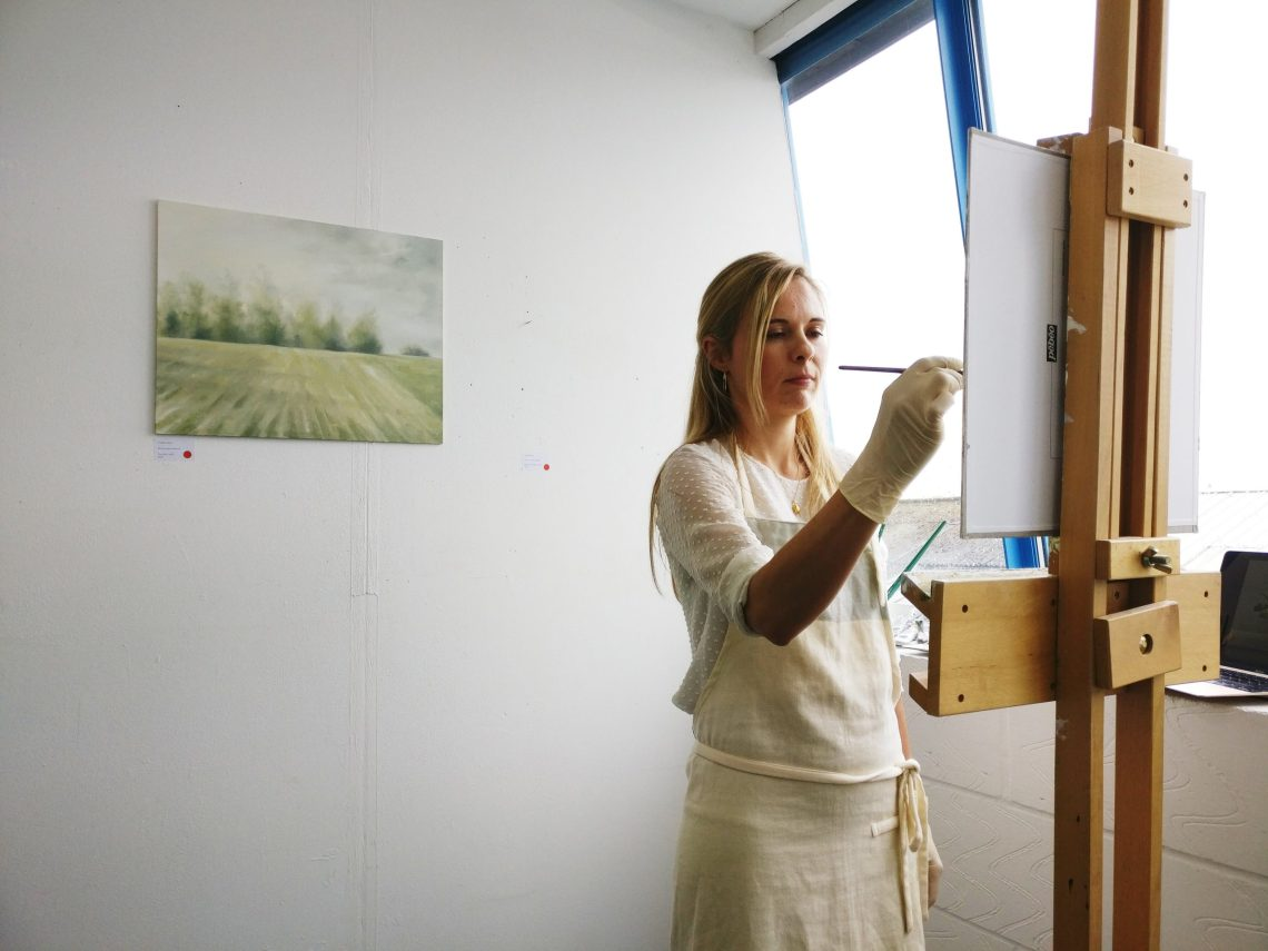 Candice Tait in the Wimbledon Art Studios