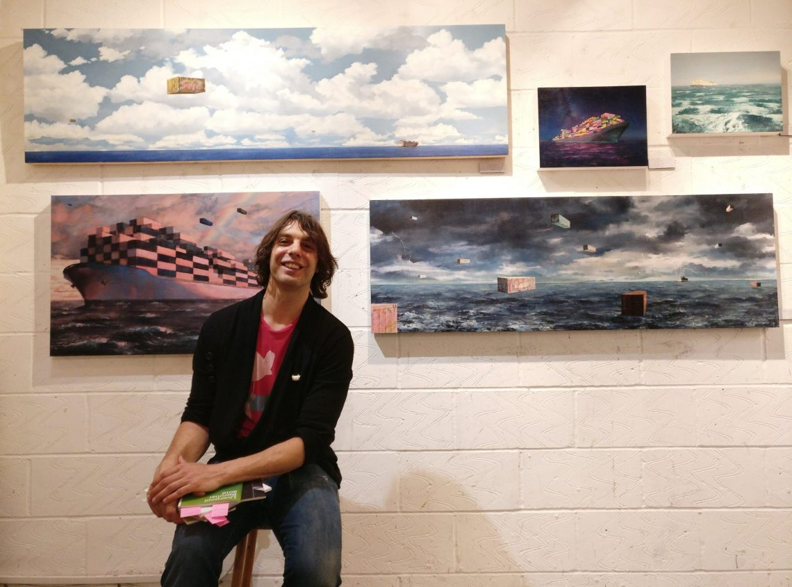 Alex Rennie in the Wimbledon Art Studios